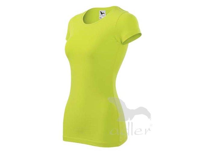 Dámské tričko Glanc s krátkým rukávem - zelené