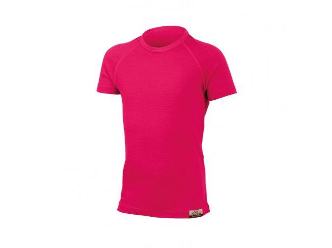 Dětské merino triko Lasting MIA - růžové