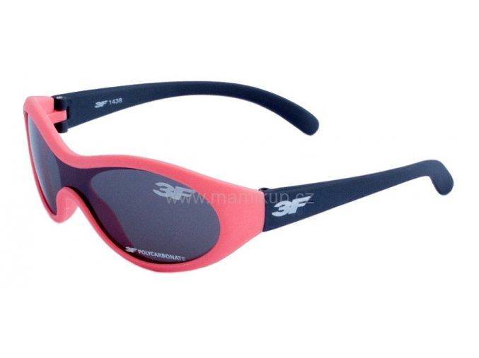 Dětské gumové sluneční brýle 3F RUBBER - RŮŽOVO ŠEDÉ 1438