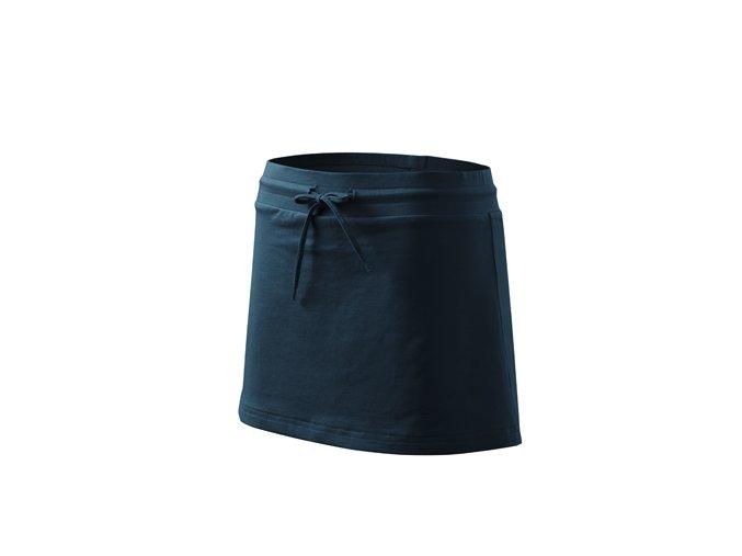 Dámská sportovní sukně se šortkami - TMAVĚ MODRÁ