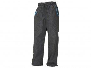 ZIMNÍ šusťákové kalhoty Fantom - ŠEDÝ MELÍR + modrá