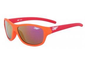 Dětské gumové sluneční brýle 3F RUBBER - ORANŽOVO ČERVENÉ 1603