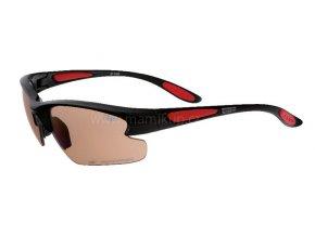 Fotopolarizační brýle pro dospělé - černo červené