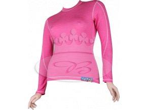 Dámské triko Voxx CLIMATIC s merino vlnou - růžové