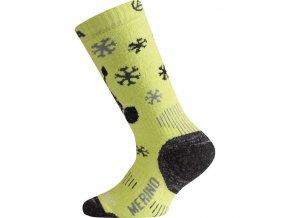 wjs 689 zelena merino ponozky junior