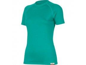 Dámské merino triko Lasting ALEA - zelené