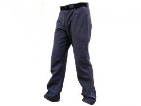 PÁNSKÉ zateplené softshellové kalhoty - ČERNÉ