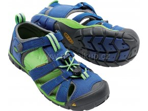 Sandály KEEN SEACAMP II CNX KIDS - modrozelené