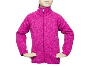 Dětský svetr na zip - RŮŽOVÝ č.2