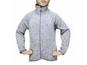 Dětský svetr na zip - SVĚTLE ŠEDÝ MELÍR č.1