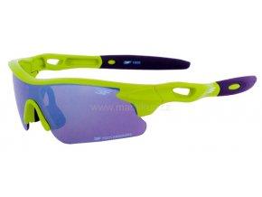 Dětské sluneční brýle 3F FOCUS - ZELENÉ+ZRCADLOVÉ ZORNÍKY
