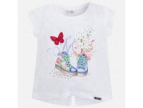 Letní dívčí tričko Mayoral S OBRÁZKEM - bílé