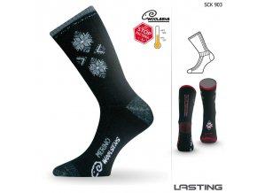 DÁMSKÉ lyžařské merino ponožky Lasting SCK