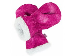 Softshellové rukavice s KOŽÍŠKEM - růžové jeans