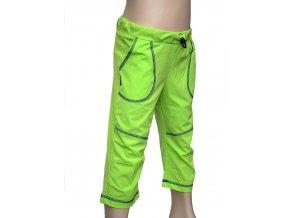 Funkční 3/4 kalhoty Fantom - zelené