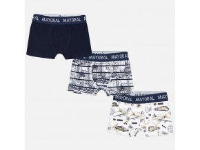 Chlapecké boxerky Mayoral 3pack - LETADLA+AUTA-modré