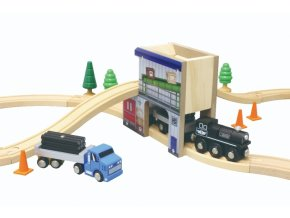 50953 cargo station w train set