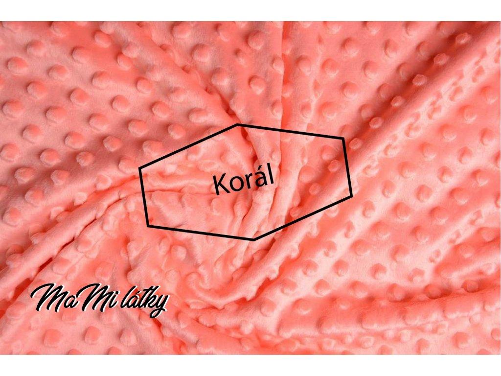 minky fleece stoff koralle
