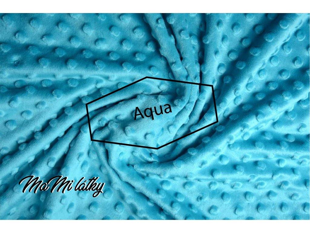 minky fleece stoff aqua