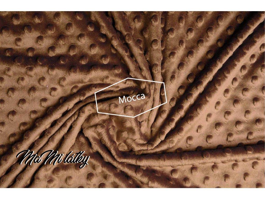 minky fleece stoff mokka braun