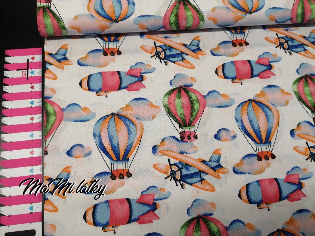 Bavlněné plátno balóny