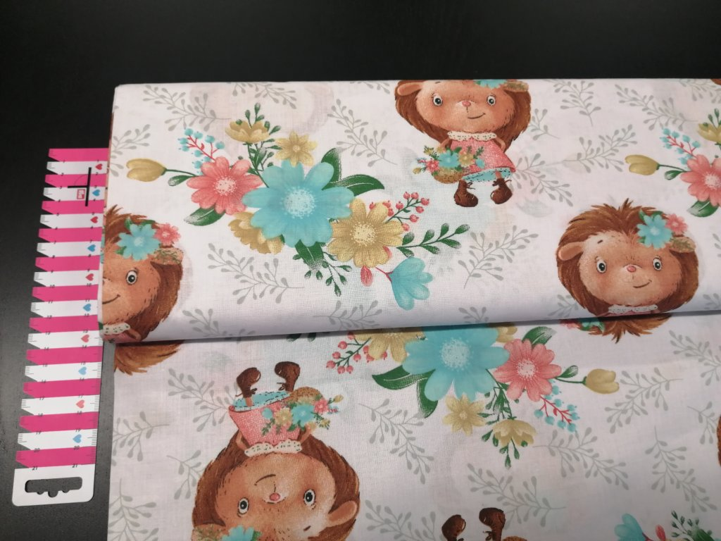 Bavlněné plátno ježčí slečny