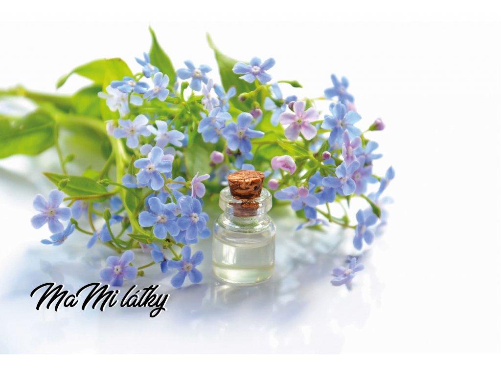 Koženkový panel  28x20cm tinktura modré květy