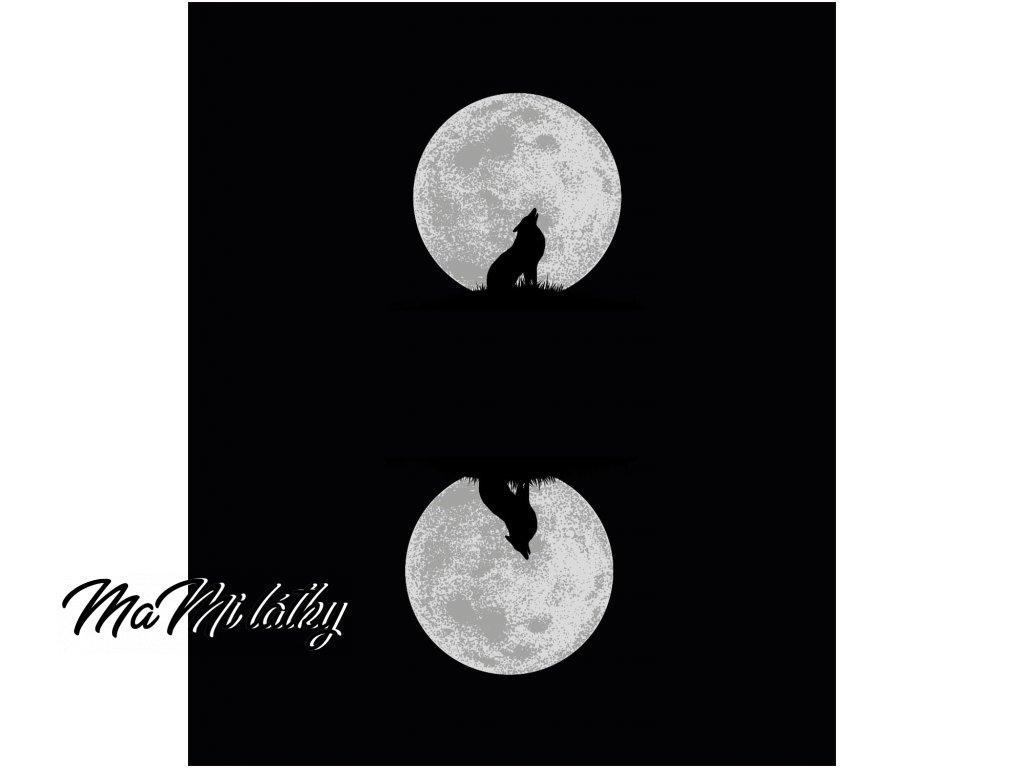 vlk s měsícem oboustranný