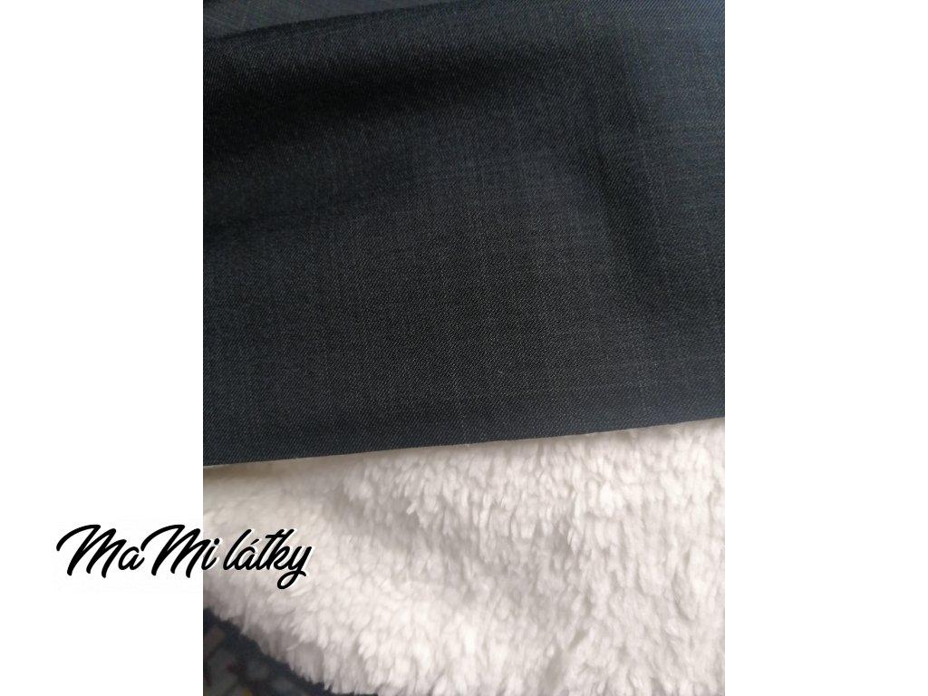 Softshell s beránkem černý - žíhaný