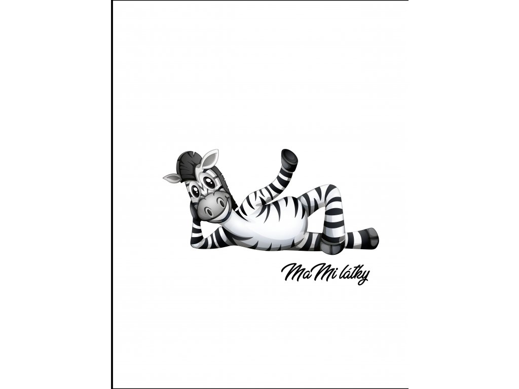 zebry bílá leží Kreslicí plátno 1