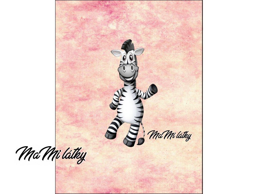zebry holčičí stojí Kreslicí plátno 1
