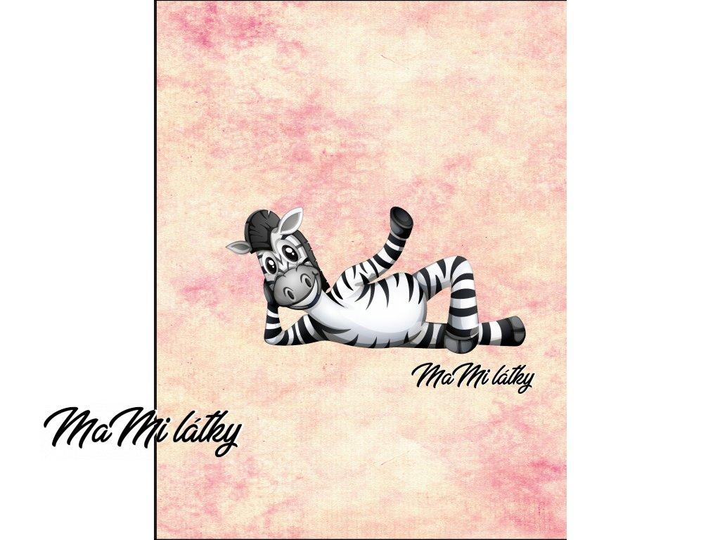 zebry oranžová leží Kreslicí plátno 1