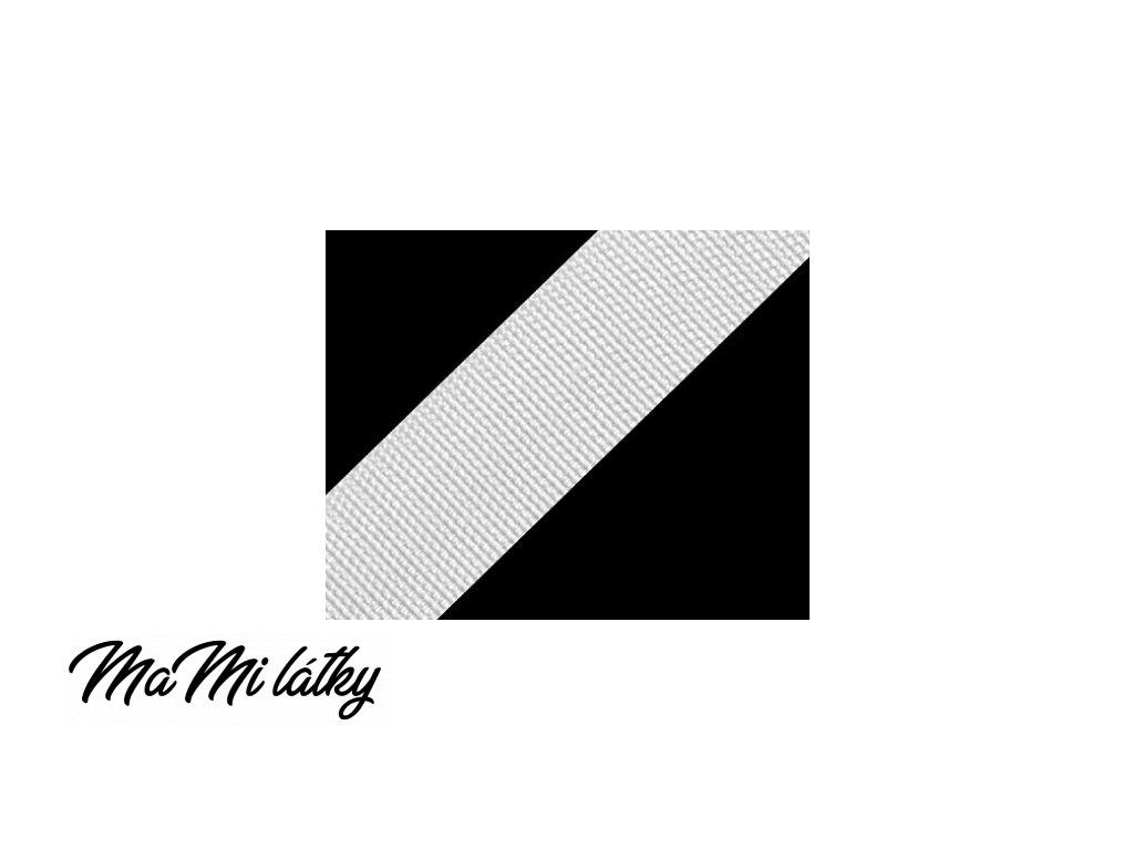 Popruh polypropylénový šíře 25 mm bílá