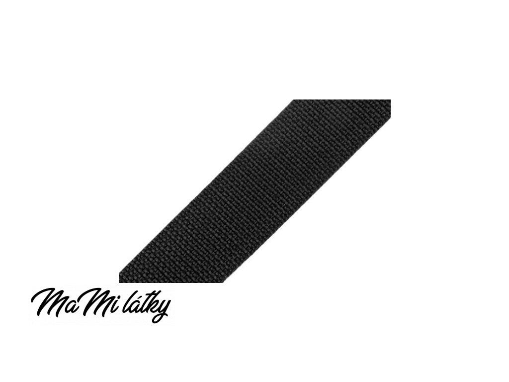 Popruh polypropylénový šíře 25 mm černá
