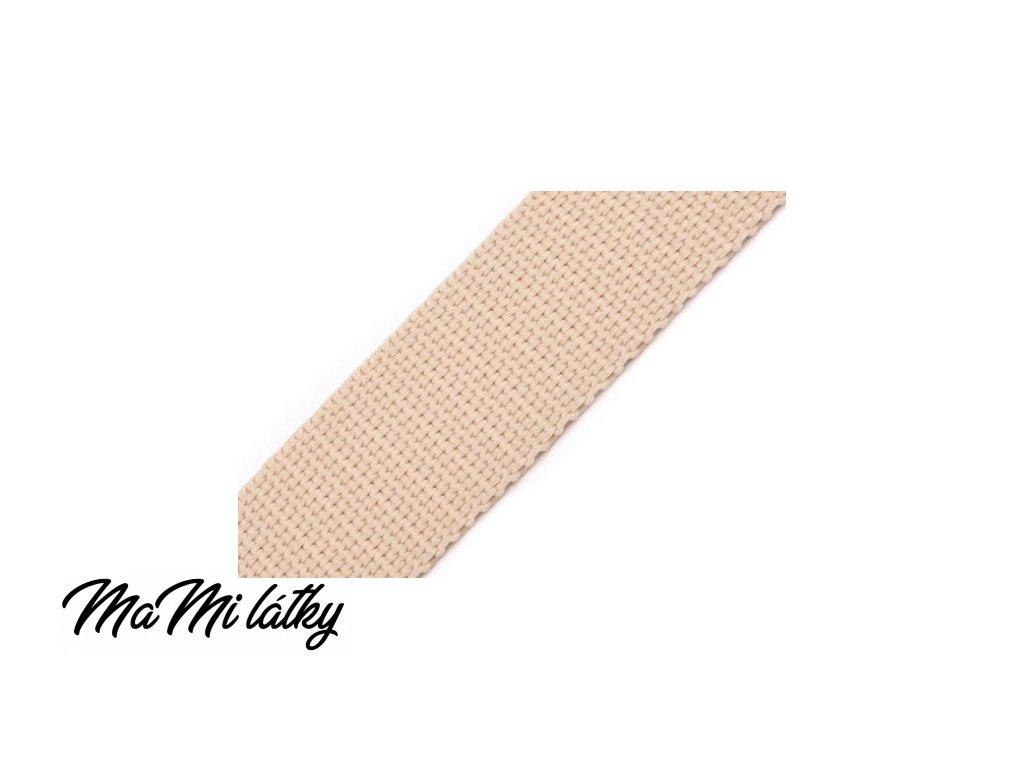 Popruh polypropylénový šíře 25 mm sv bežová