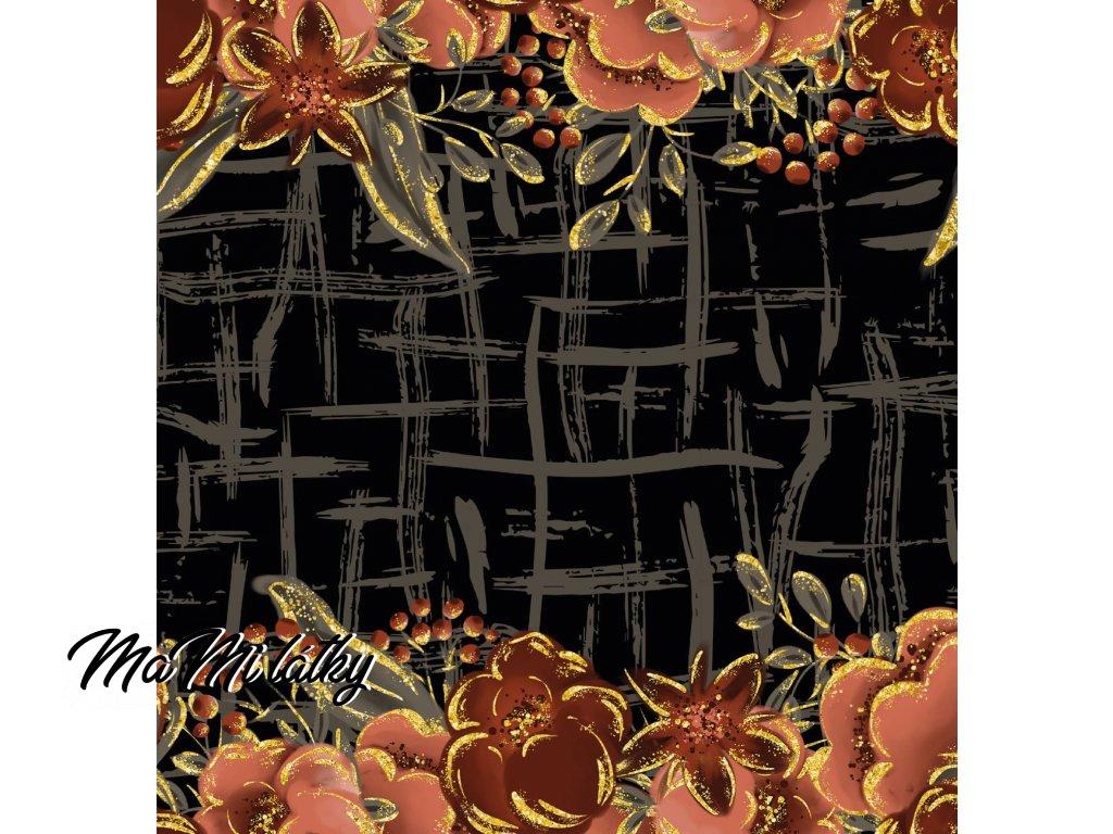 halloweenské květy Kreslicí plátno 1