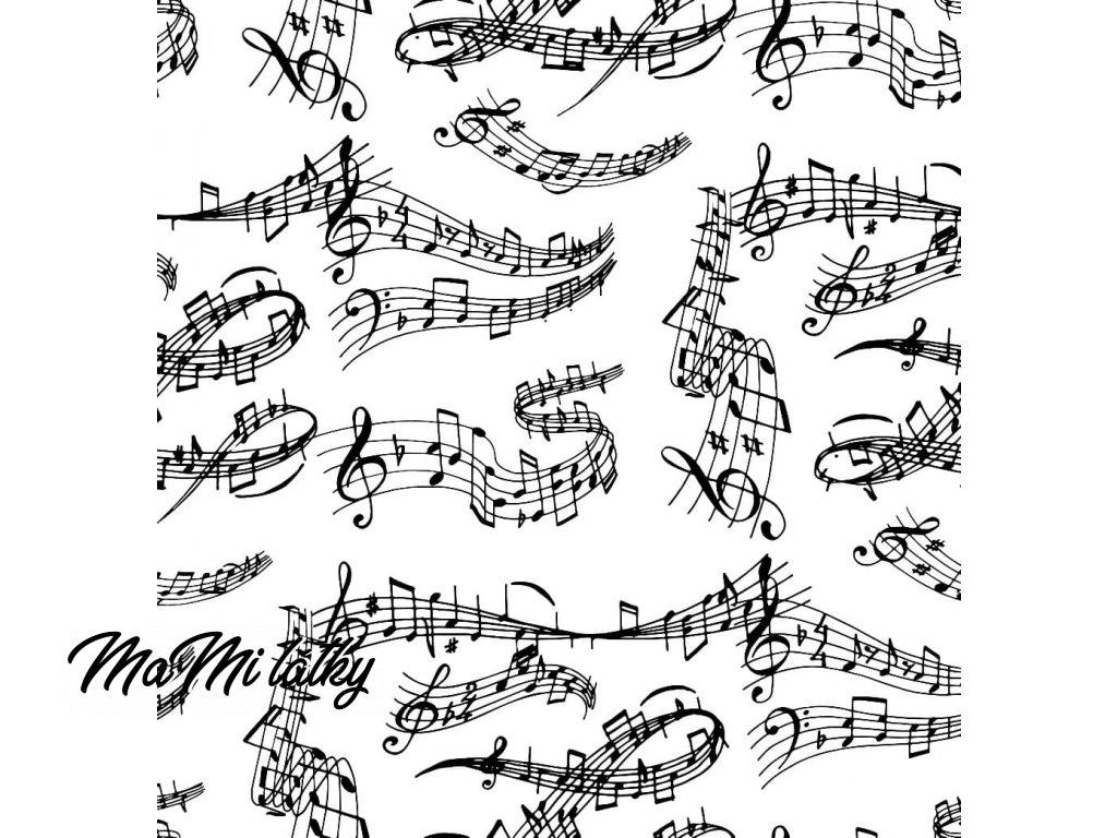 noty bílá Kreslicí plátno 1