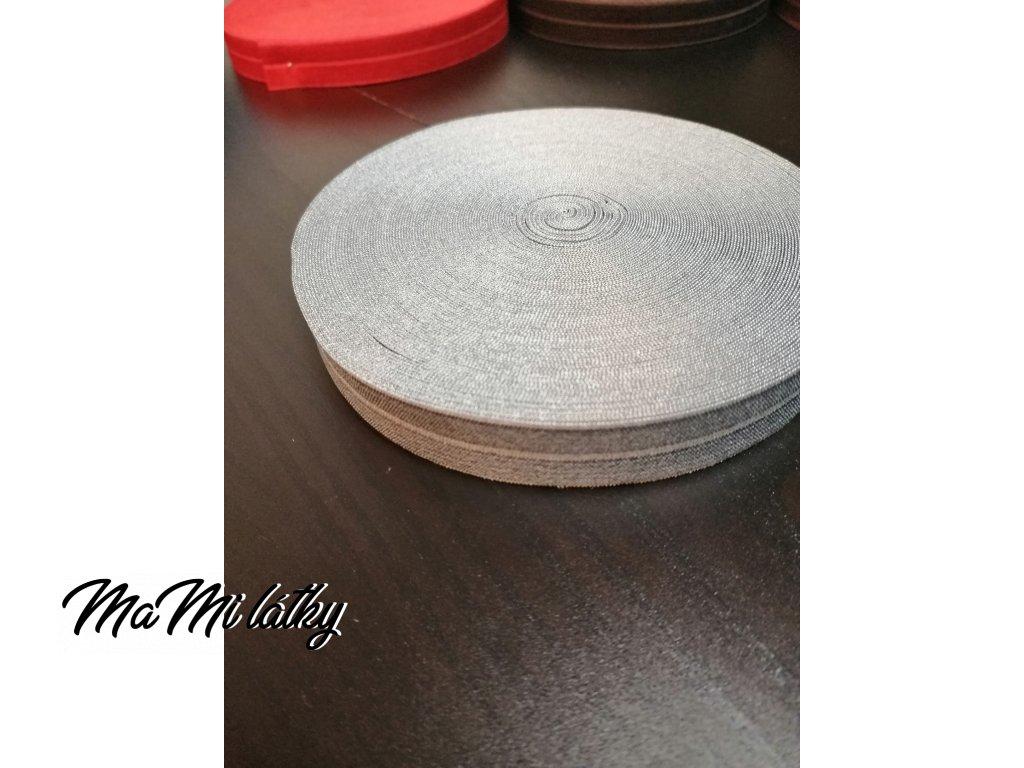 Pruženka lemovací půlená 19mm šedá 8077