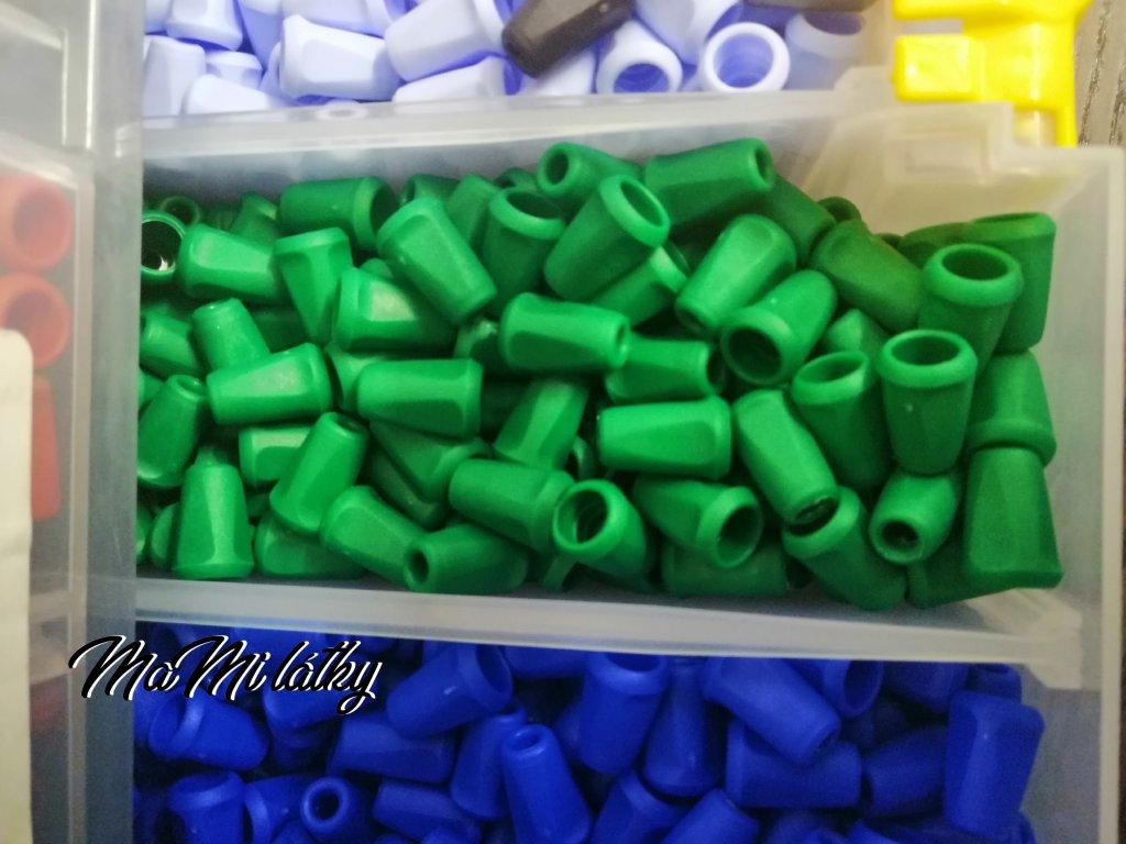 Koncovka plast tmavší zelená