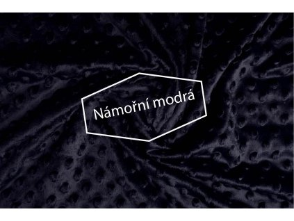 minky fleece stoff marine
