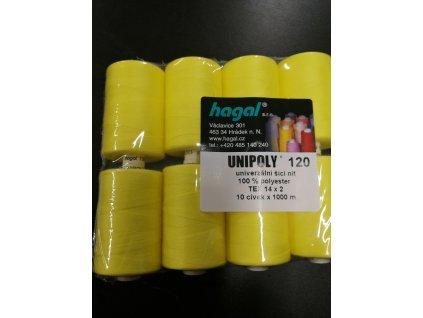 Nitě UNIPOLY 120 14x2 1000 m žlutá 164
