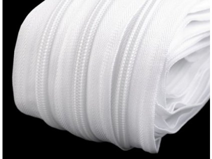 bílý zip