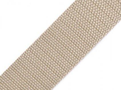 Popruh polypropylénový šíře 25 mm bežová
