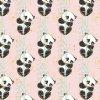 bawełna pandy na bambusie na brzoskwiniowym złota kolekcja