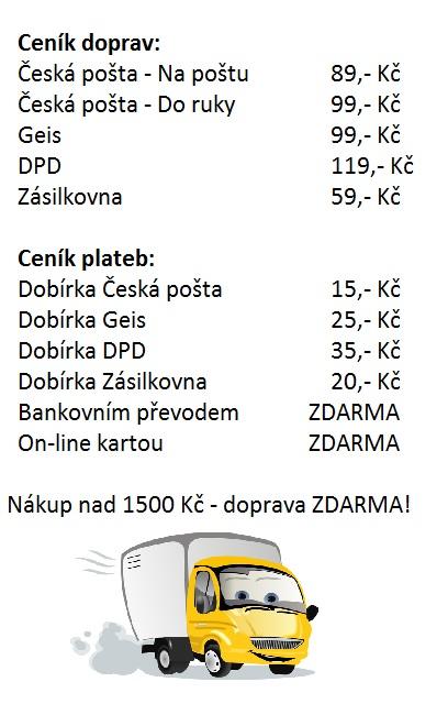 Ceník doprav