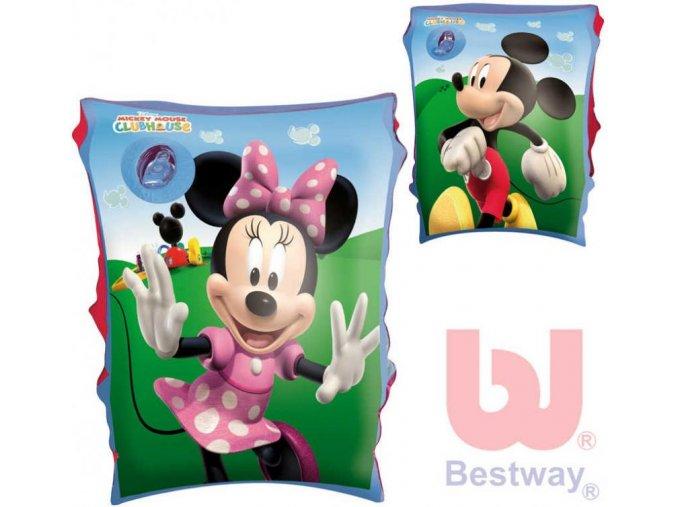 bestway nafukovaci detske rukavky 1 par minnie mickey mouse 2 druhy do vody 2382198