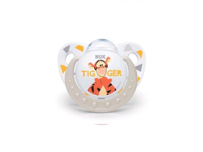 Šidítko NUK Trendine Disney Tigger 6-18m bílé