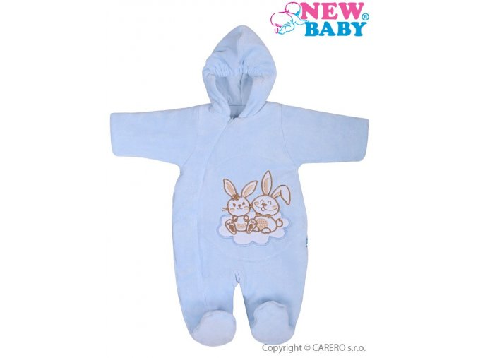 Zimní overal New Baby Bunnies modrý