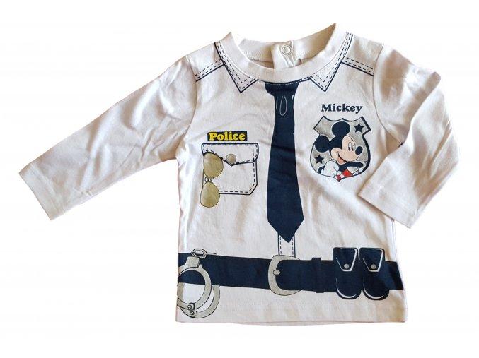Tričko Mickey Mouse policajt bílé (Velikost 23 měsíců/86 cm)