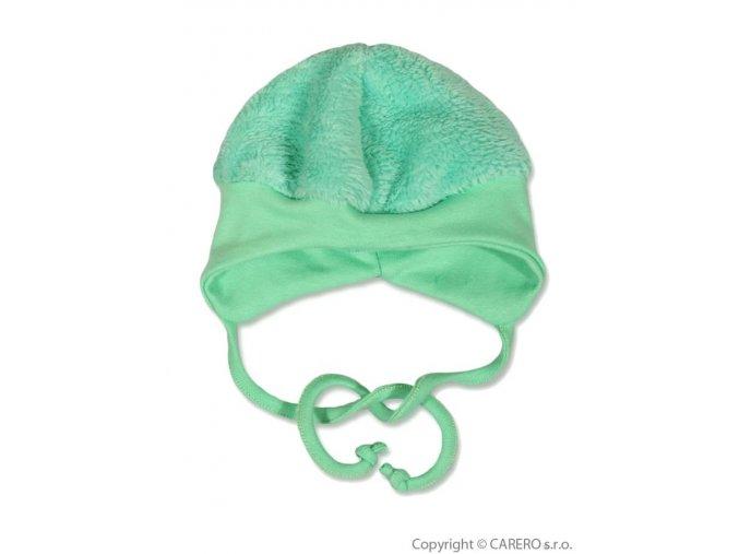 Fleecová čepička Baby Service Chlupáček zelená